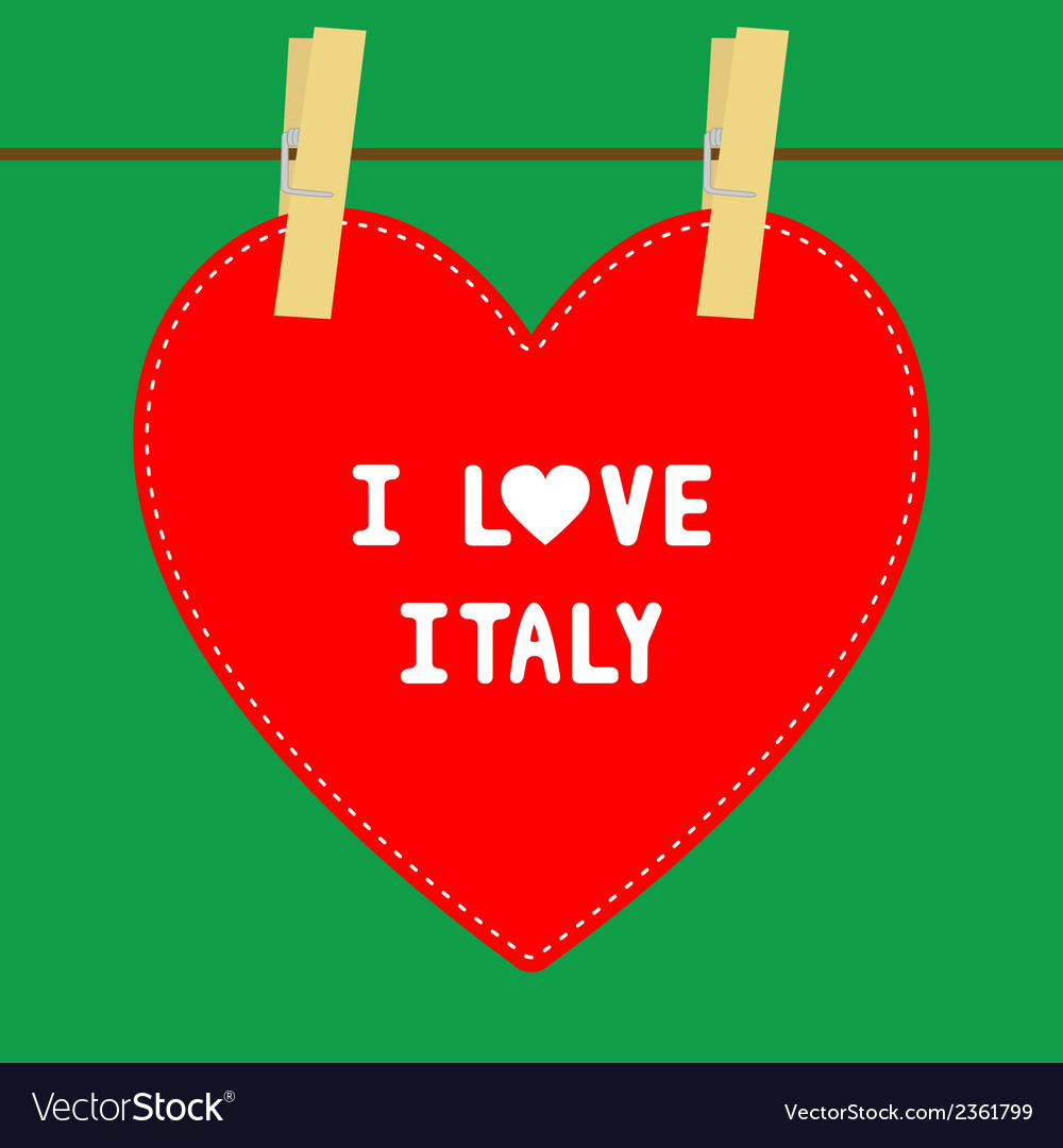 I love italy5 vector | Price: 1 Credit (USD $1)