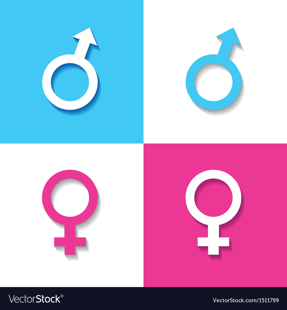 Male and female symbol vector | Price: 1 Credit (USD $1)