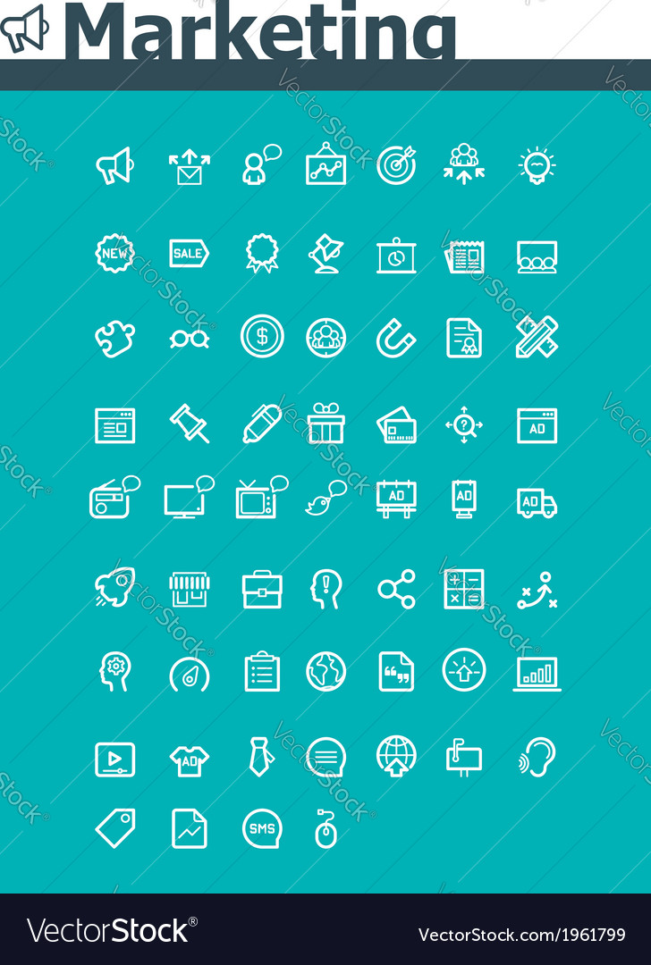 Marketing icon set vector | Price: 1 Credit (USD $1)