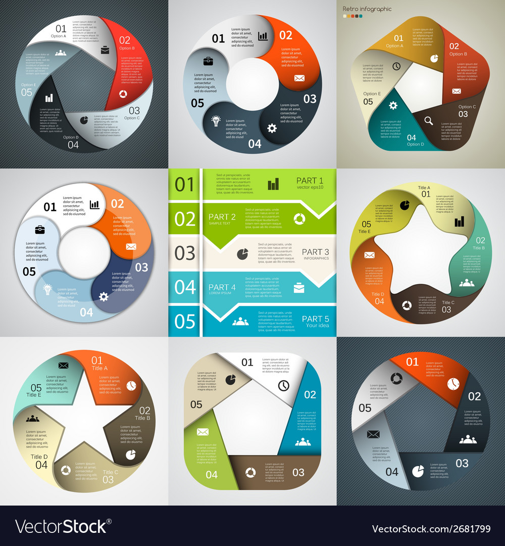 Modern infographics for business project vector