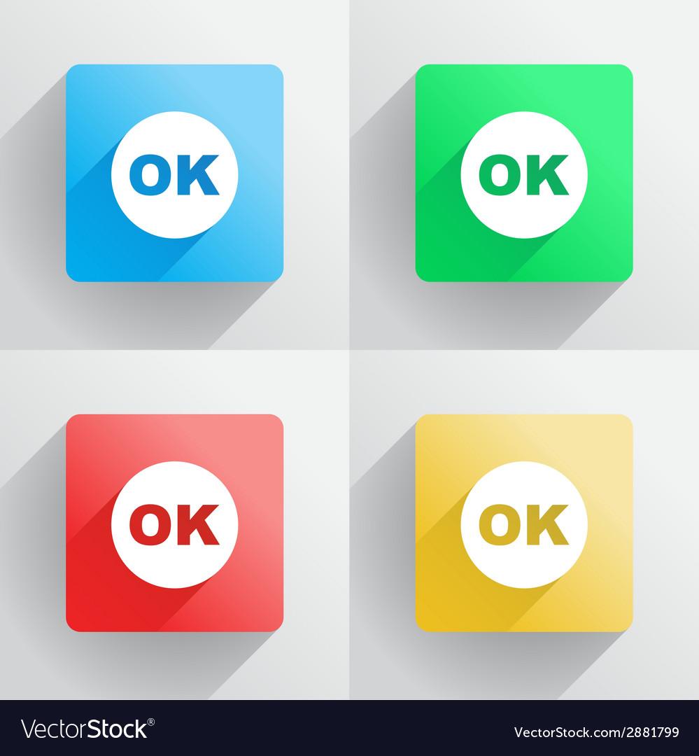 Ok button vector | Price: 1 Credit (USD $1)