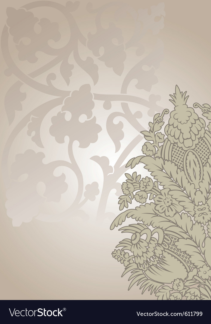 Ornate floral vector | Price: 1 Credit (USD $1)