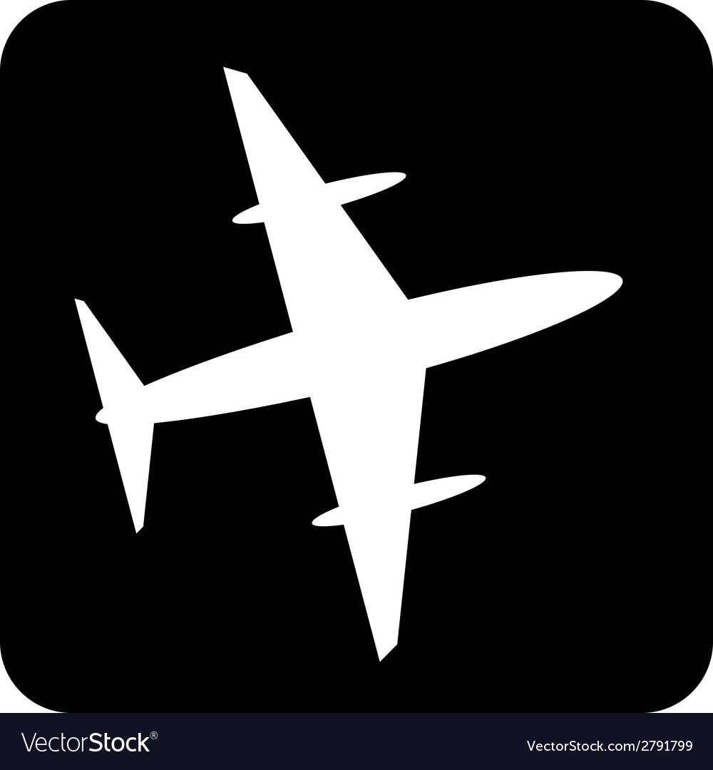 Plane button vector | Price: 1 Credit (USD $1)
