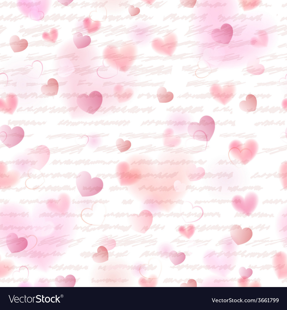 Seamless pattern of pink hearts vector | Price: 1 Credit (USD $1)