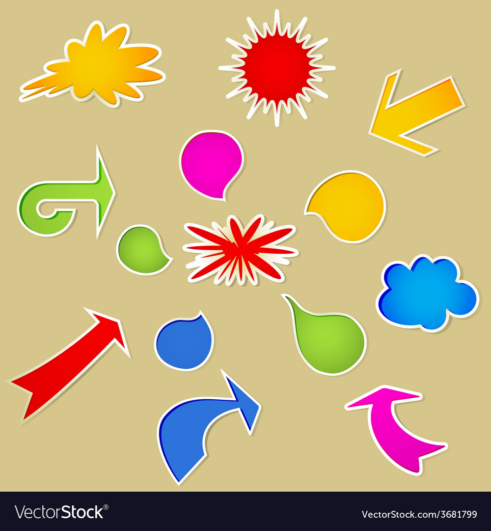 Set of various bubbles vector | Price: 1 Credit (USD $1)