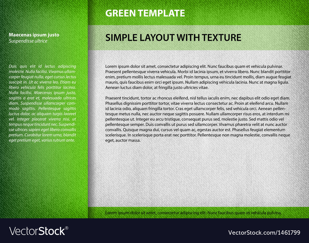 Template green vector | Price: 1 Credit (USD $1)