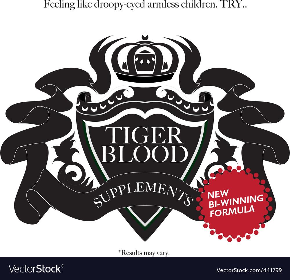 Tiger blood vector   Price: 1 Credit (USD $1)