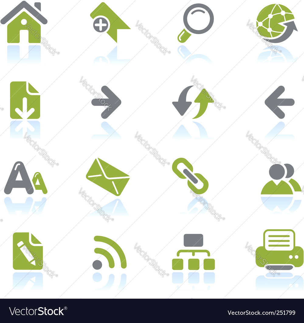 Web navigation icons vector | Price: 1 Credit (USD $1)
