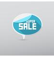 Retro 3d blue super sale tag label vector