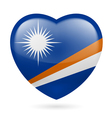 Heart icon of marshall islands vector