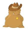 Sheriff pillow vector