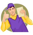 Mail carrier with a letter vector