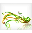 Colorful abstract wave curls light wave vector