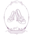 Bride wedding shoes vector