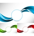 Abstract illustration set of background vector