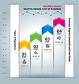 Business step paper chart and numbers vector