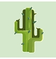 The green cactus in a desert isolated on white vector
