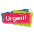 Urgent letter vector
