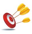 Icon target arrows vector