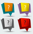 Tag banner origami modern style vector