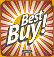 Best buy retro sign template vector