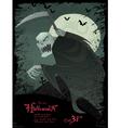 Halloween grim reaper template vector