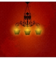 Vintage background with chandelier vector