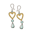 Hearts earrings vector