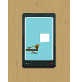 Smart phone bird vector