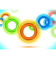 Multicolor background - colorful rings vector