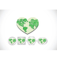 Globe earth icons themes idea design vector