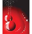 Christmas bulbs vector