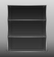 Dark empty isolated bookshelf vector
