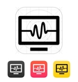 Tv signal icon vector