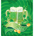 Holiday card with calligraphic words good luck vector