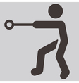 Hammer throw icon vector