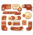 Set of brown progress version step icons eps 10 vector