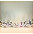 Merry christmas retro postcard village eps 10 vector