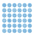 Set of different flat crosshair sign icons with vector