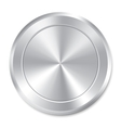 Metallic button template round sticker icon vector