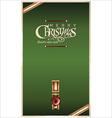 Christmas green banner vector