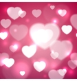 Hearts for valentines day background vector