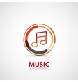 Music company logo business symbol concept vector
