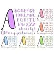 Vintage sketch alphabet vector
