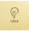 Lightbulb paper creative idea symbol concept eps vector