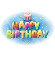 Happy birthday text vector
