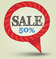 Speech sale banner vector