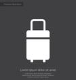 Travel bag premium icon white on dark background vector