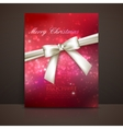Merry christmas shiny red holiday background with vector