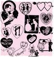 Valentines scrapbook vector